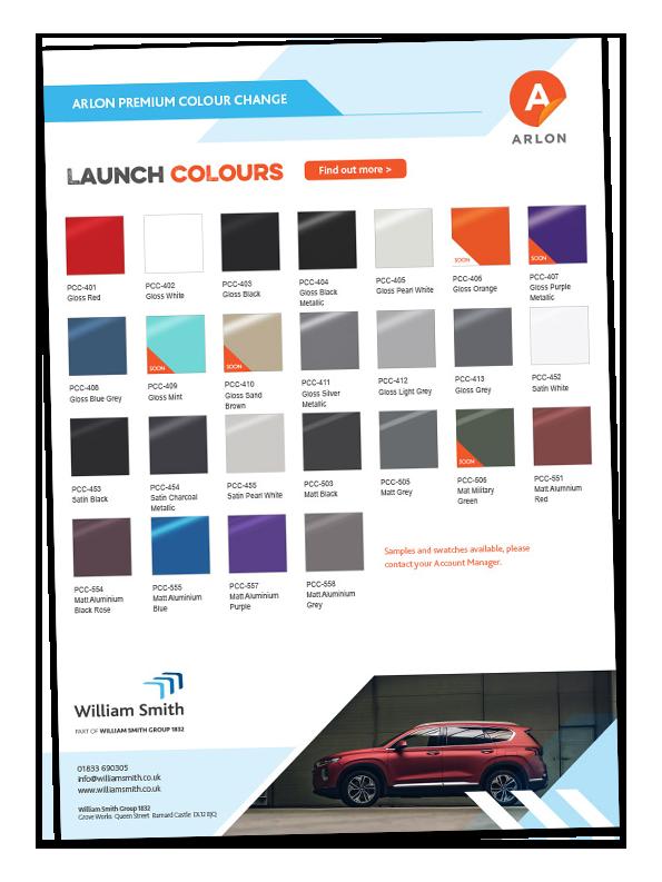 Arlon PCC colour card copy